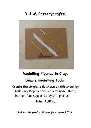 Simple tools for clay modelling.