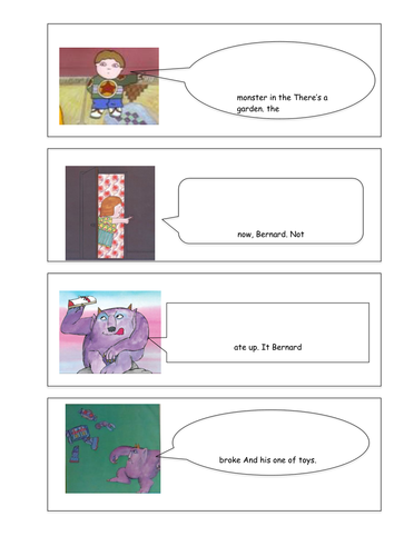 story sequencing words