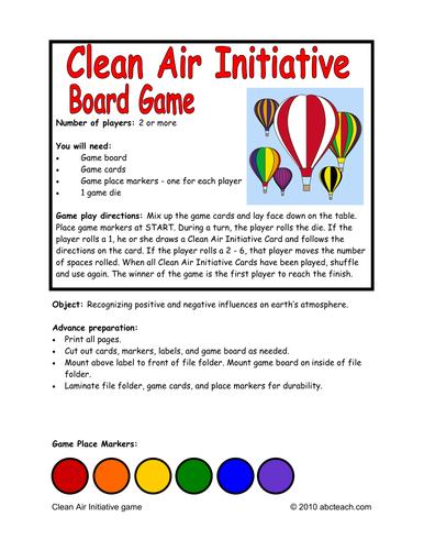Clean Air Initiative Board Game