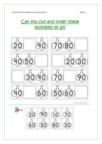 New Year 1 Multiples Of 10 Worksheet By Rachelh29