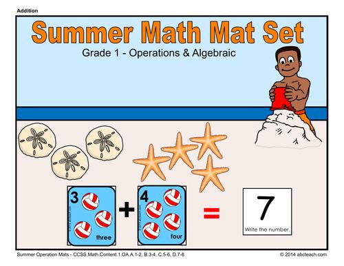 Summer Math Mat