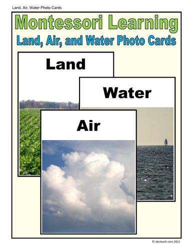 Montessori Cards:  Land, Air & Water