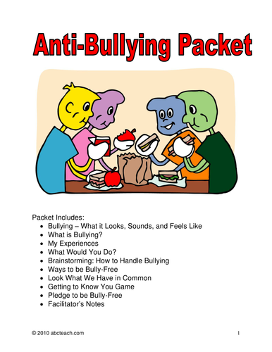 Anti Bullying Learning Packet
