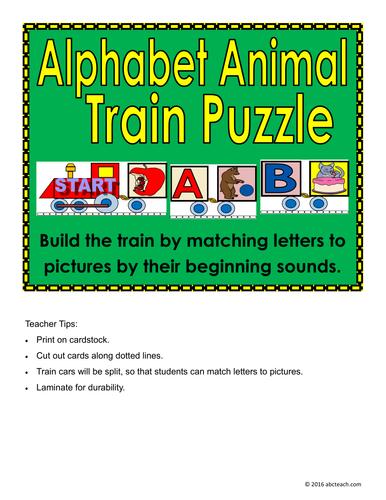 Alphabet Animal Train Puzzle