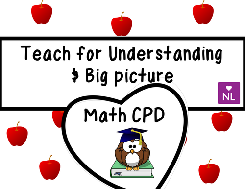 FREE Teach for Understanding Bigger Picture (Maths CPD)