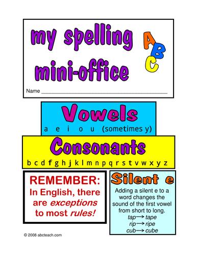 Spelling Mini Office