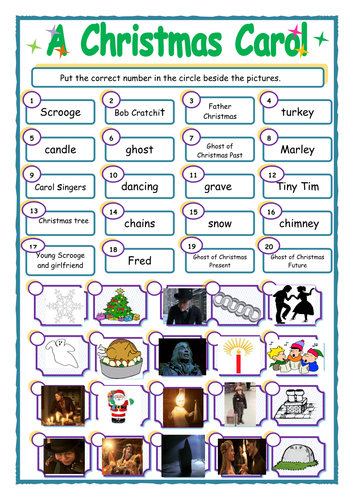 39 A Christmas Carol 39 By Charles Dickens Match Up Activity