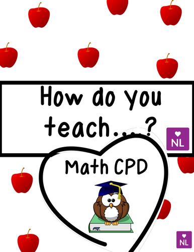 FREE How do You Teach.. (Math CPD)