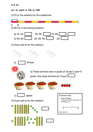 Place value presentations with planning notes and worksheets (Mathematics Mastery for Year 3)