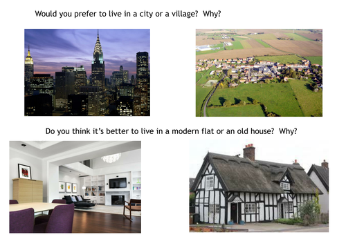 ESL speaking prompts: cities and villages