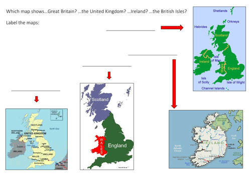 Map activity: Great Britain, the UK, Ireland or the British Isles?