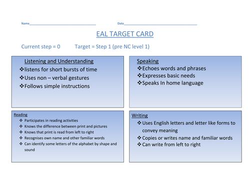 EAL steps target cards