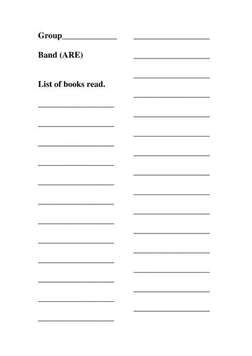 Guided reading folder