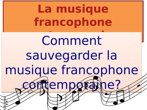 Comment sauvegarder la musique contemporaine francophone / New AS French / Français / 2016+