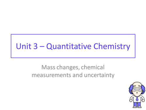 AQA GCSE chemistry - Unit 3 - Lesson 2  mass lost with gases, mean, range and uncertainty