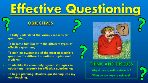 Effective Questioning CPD Session!
