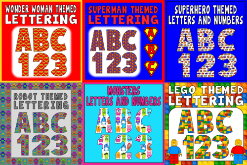 Letters and numbers bundle 6 sets of alphabet letters for The woman in number 6