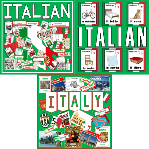 *ITALIAN LANGUAGE BUNDLE* ITALY CULTURE, DIVERSITY, LANGUAGE POSTERS, FLASHCARDS, DISPLAY - KEY STAGE 1-4, GEOGRAPHY, EUROPE, ROME