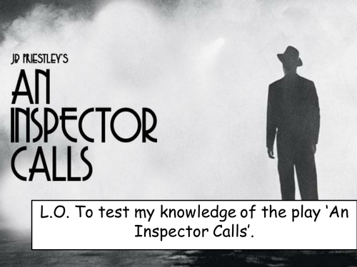 Year 11 Revision SOW for 'An Inspector Calls'
