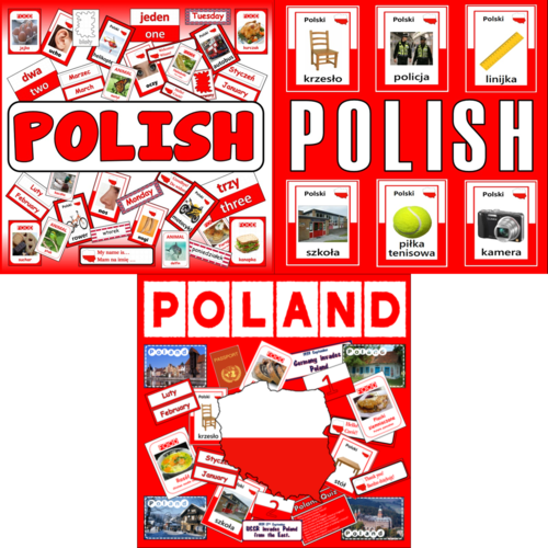 *POLISH BUNDLE* LANGUAGE AND CULTURE SET, POLAND, GEOGRAPHY, DISPLAY, POSTERS, FLASHCARDS, LANGUAGE, KEY STAGE 1-4 EAL