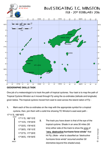 Geographyfocus shop teaching resources tes investigating tropical cyclone winston fiji february 2016 ccuart Image collections
