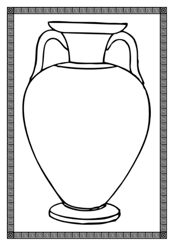 Greek Vase Template by BubbleResources