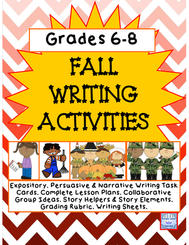 Fall Writing Prompts (Grades 6-8)