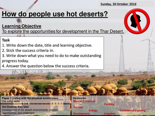 Thar Desert 1/2 - AQA 2016 - Living World - Opportunities in the hot desert