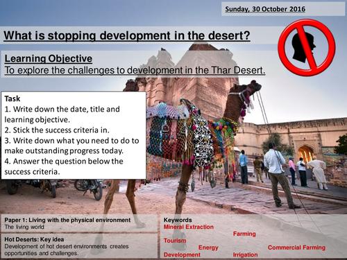 Thar Desert 2/2 - AQA 2016 - Living World - Challenges in a hot desert