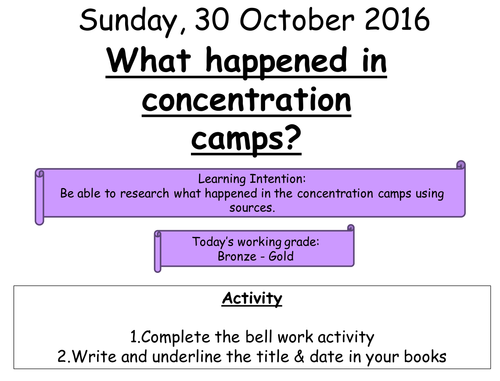 7 - What happened in concentration camps