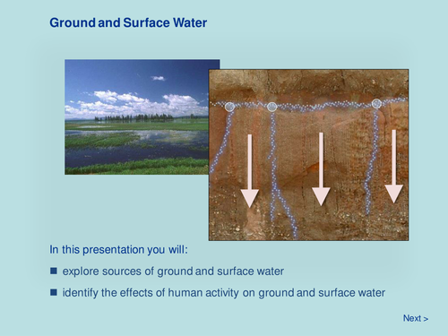 Ground and Surface Water