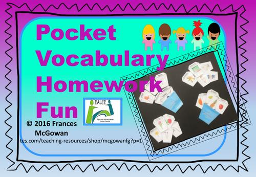 Pocket Vocabulary Homework Fun