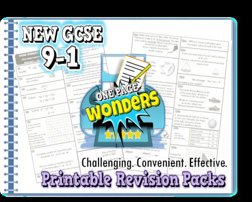 NEW GCSE 9-1 Maths revision packs bundle