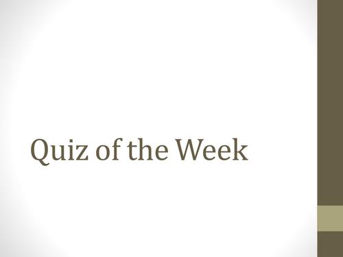 Citizenship Weekly Quiz W/C 31st Oct