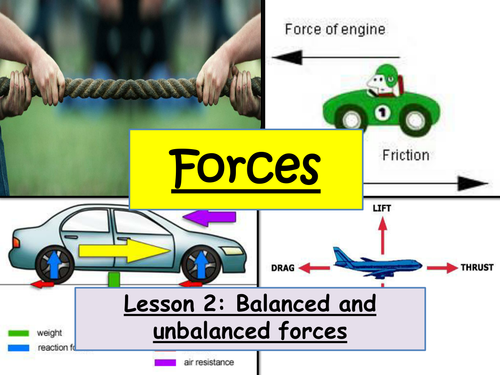 Balanced and unbalanced forces by efoth2109 - Teaching ...