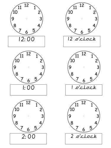 Early years maths for early years teaching resources: Time