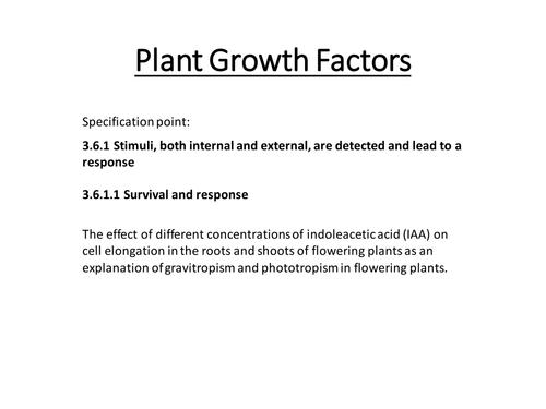 Plant growth factors