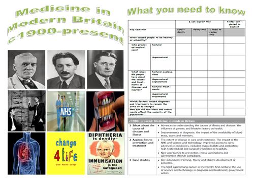 Edexcel GCSE History - Modern Medicine in Britain 1900-Present