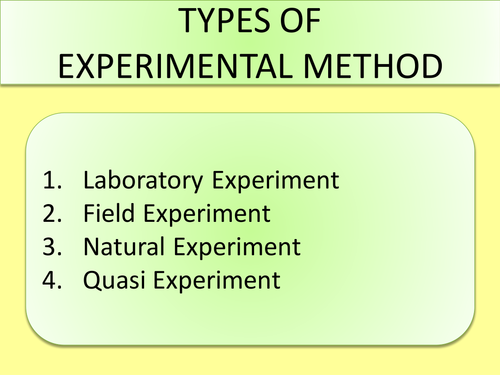 Video, PowerPoint & Assessment on Experimental Methods in Psychology (Lab, Field, Natural, Quasi)