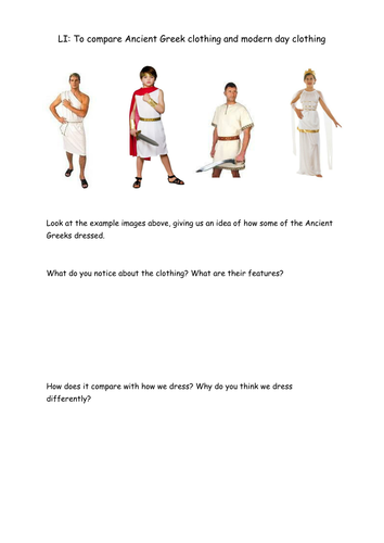 Ancient Greeks: Clothing