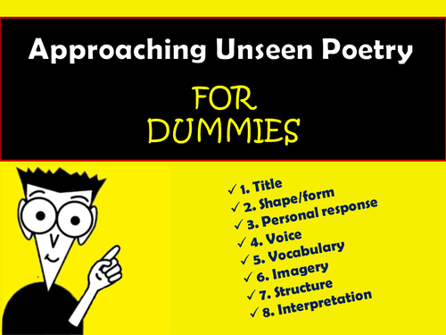 GCSE KS4 KS5 - Approaching Unseen Poetry - Developing Skills and Confidence