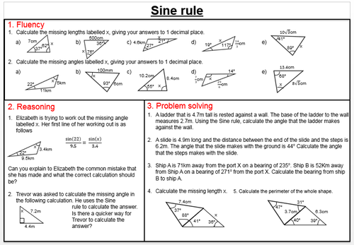 Higher Trigonometry Worksheets By Joybooth Teaching