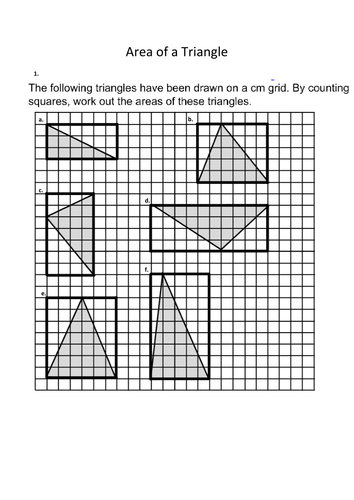 Area of a Triangle by ayoob - Teaching Resources - Tes