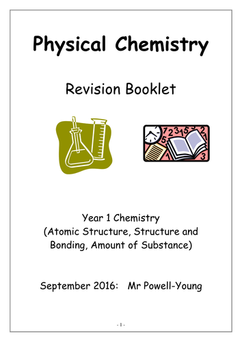 This is revision / workbooks for the new AQA A-Level Chemistry course