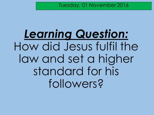The Moral Teachings of Jesus