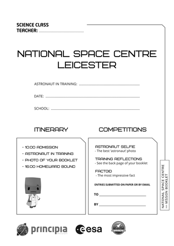 National Space Centre Mission Booklet
