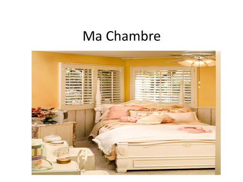 Ma Chambre - furniture in the bedroom in French