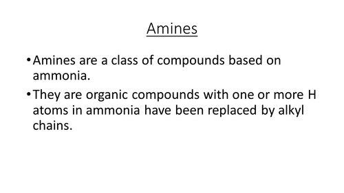 Basicity and the preparation of amines - for new OCR A Chemistry A Level Specification