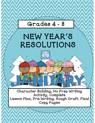 New Year's Resolutions Writing Prompt Activity (Grades 6-8)