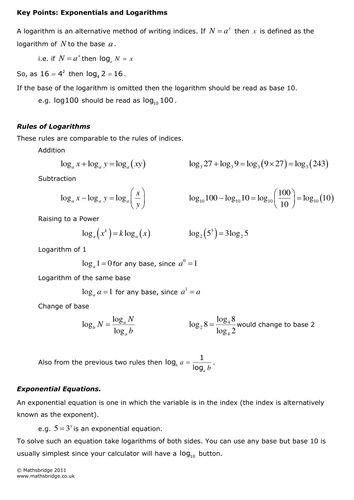 Logarithms Practice Questions